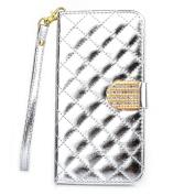 Sannysis Shine Diamond Leather Wallet Flip Case For Samsung Galaxy Note 4