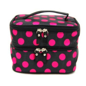 Kinghard Chic Makeup Toiletry Double Hand Bag Tool Cosmetic Storage