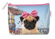 Catseye Small Cosmetic Bag - Carnival Pug