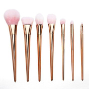 Kwok Brush,7Pcs Set Professional Brush High Brushes set Make Up Blush Brushes