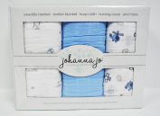 Baby Swaddle Blanket Pack of 3 {Blue, Puppy, and Planes}