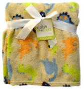 Baby Starters 80cm x 90cm Tan Dinosaur Fleece Blanket