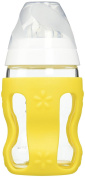 Benir Glass Nurser with Protective Wrap, Clear/White/Yellow, 270ml