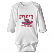 Custom Iowa State Cyclones Baby Girl And Boy Climbing Cotton Long Sleeve Shirt [ -