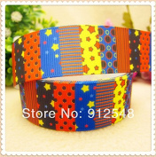 "FunnyCraft 10 Yards 1"" 25Mm Geometric Patterns Printed Grosgrain Ribbon Diy Handmade Clothing Accessories Wedding Gift Packaging Materials"