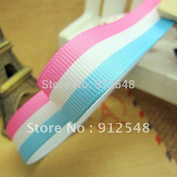 "FunnyCraft 10 Yards 5/8"" (16Mm) Grosgrain Stripe Ribbon 10Yds/Roll"