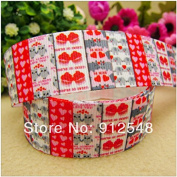 "FunnyCraft 10 Yards 1"" 25Mm Love Grosgrain Ribbon Diy Handmade Clothing Accessories Wedding Gift Wrap Ribbon"