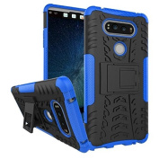 LG V20 Case,ARSUE [Premium Rugged] Heavy Duty Armour [Shock Resistant] Dual Layer with Kickstand Case for LG V20 (2016)-Blue