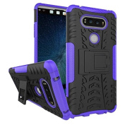 LG V20 Case,ARSUE [Premium Rugged] Heavy Duty Armour [Shock Resistant] Dual Layer with Kickstand Case for LG V20 (2016)-Purple