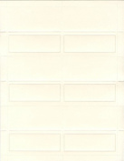 Geographics Blank Place Cards, 9.5cm x 8.4cm , Ivory Pearl, 48 Pack, 8 Case