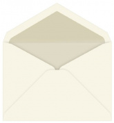 Inner Ungummed Envelope Tiffany - Ecru Pearl Lined, 25 pack