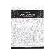 American Crafts 375322 Outdoors Creative Zen Colouring Book Outdoors