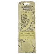 Floral Spray Deco Mache x 3 Paper Sheets Tissue Patch Craft Trimcraft