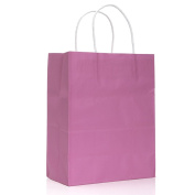 10 Pcs Colourful Kraft Paper Bag Luxury Recyclable Wedding Party Handle Paper Gift Bags Shopping Bag Favour Bag
