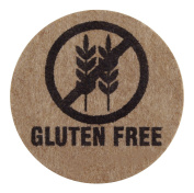 Gluten Free - Kraft Paper Stickers on Sheets - 1.9cm Circles - 210 Labels per Pack