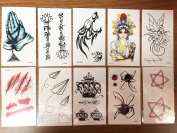 10 sheets of 2017 Waterproof temporary tattoo stickers Fake Tattoos