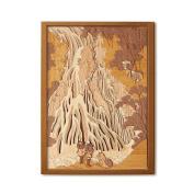 KINOWA Ukiyoe Art Kit Kiharie Kirifuri Waterfall At Mt. Kurokami In Shimotsuke Made in Japan