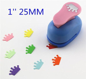 Since 2.5cm Crown paper cutter scrapbooking punches paper punch eva foam punch child diy craft punch scrapbook ,Random Colour