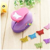 Since 2-2.5cm Butterfly shape EVA foam punch paper punch for greeting card handmade ,Scrapbook Handmade puncher,Random Colour and Design