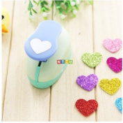 Since 2-2.5cm Heart shape EVA foam punch paper punch for greeting card handmade ,Scrapbook Handmade puncher ,Random Colour and Design