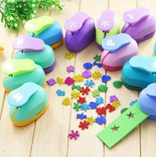 Since Pack of 3 Puncher Scrapbooking Punches Shaped Hole Punch Paper Cutter Scrapbook Embossing Machine Decorative Craft Punch Perforator 15mm,Random Colour and Design