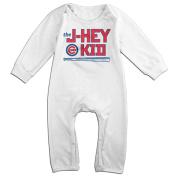 Hotboy19 Babys Chicago #22 Baseball J-Hey Player Bodysuits Long Sleeve White