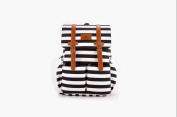 Kaydee Baby Nappy Backpack - Black and White Stripes