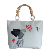 May Lucky Womens Hand Painted Shoulder Bag Chinese style Crossbody Bags Casual Bag