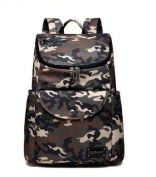 CL Nappy Bag Travel Backpack Shoulder Bag with Baby Changing Pad - camouflage