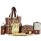 LakeRom 10-in-1 Multifunction Large Capacity Baby Nappy Bag Nappy Changing Pad Travel Mummy Bag Tote Handbag Set