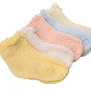 SyGyn(TM) (5 pairs / lot) Baby socks with 0-6 months baby 100% cotton baby socks Female baby socks