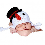 BESTOYARD Baby Photography Prop Crochet Knitted Crochet Costume Snowman Hat Caps