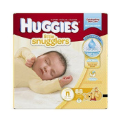 Huggies Little Snugglers Nappies,softness flexible inner pad,specially shaped to fit little legs, Newborn, 88 Count