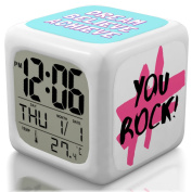 New 2017 Model Alarm Clock - Upgraded Digital Display Model for Kids, Teens & Adults - Today Get 100% - Clocks for Home and Travel, Work for Heavy Sleepers - Limited Edition