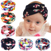 Baby Headbands 6Pcs Baby Girls Kids Children Toddlers Soft Turban Headband Head Wrap Knotted Hair Band