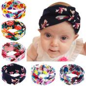 Baby Headbands 6Pcs Baby Girls Kids Children Toddlers Soft Turban Headband Head Wrap Knotted Hair Band