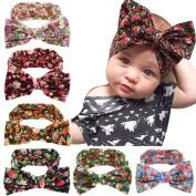 Baby Headbands 6Pcs Baby Girls Kids Children Toddlers Hair Bow Hair bands Hair Hoops Soft Headbands
