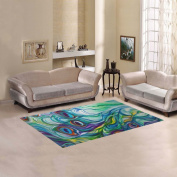JC-Dress Area Rug Peacock Modern Carpet 1.5mx0.9m