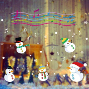 OVERMAL Christmas Snow Ball Removable Home Vinyl Window Wall Stickers Decal Decor