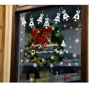 OVERMAL Christmas Bells Removable Wall Sticker Adornment Wall Glass Window Decoration
