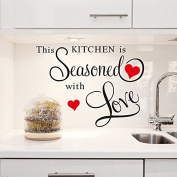 Wall Quote Sticker THIS KITCHEN IS SEASONED WITH LOVE Wall Art Decor Decal