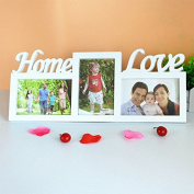 Home Love Wooden Photo Frame With 3 Wood Picture Frame Home Decor DIY Gift