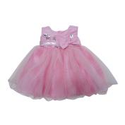 Baby Girls Pink Sequin Adorned Empire Waist Flower Girl Dress 6-24M