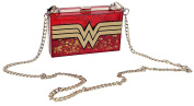 DC Comics Wonder Woman Glitter Perspex Clutch Bag