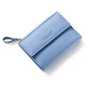 HeySun Fashion Simple Small Purse Front Pocket Card Holder Bifold Wallet for Women