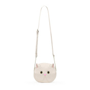 Darling's Luna Cat Cross-body Purse - Beige White