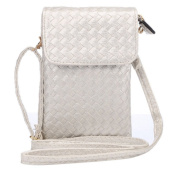 YaJaMa Leather Mini Shoulder Crossbody Bag Cellphone Poucn Purse with Strap