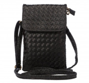 YaJaMa Leather Mini Shoulder Crossbody Bag Cellphone Poucn Purse with Strap