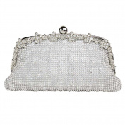 Hflove Ladies Twinkle Rhinestone Clutch Bag Evening Bag Shoulder Bag with Chain