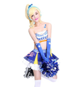 ROLECOS Eli Ayase Sweet Cheerleaders Uniform Fancy Dress Costume Outfit L
